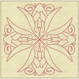 TDZ180 - Angel Lines 4x4 Backstitch
