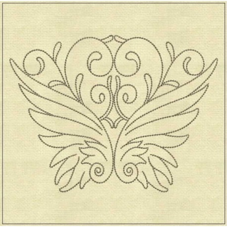 TDZ181 - Angel Lines 5x5 Backstitch