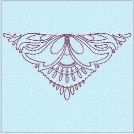 TDZ205 - Folk Art Lineart 5x5 Backstitch