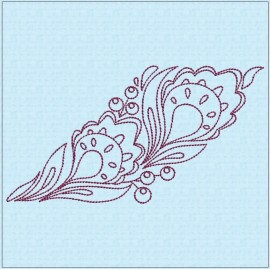 TDZ206 - Folk Art Lineart 6x6 Backstitch