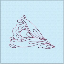 TDZ207 - Folk Art Lineart 7x7 Backstitch