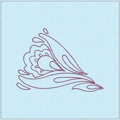 TDZ207 - Folk Art Lineart 7x7 Backstitch