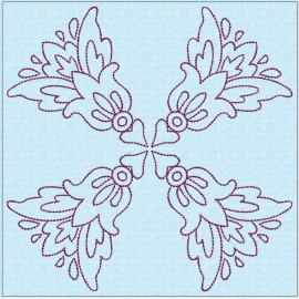 TDZ208 - Folk Art Lineart 8x8 Backstitch