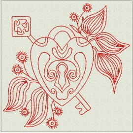 TDZ209 - Eternal Love 4x4 Backstitch