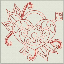 TDZ211 - Eternal Love 6x6 Backstitch