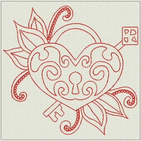 TDZ211 - Eternal Love 6x6 Backstitch