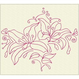 TDZ222 - Decorative Lilies 4x4