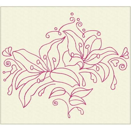 TDZ222 - Decorative Lilies 4x4