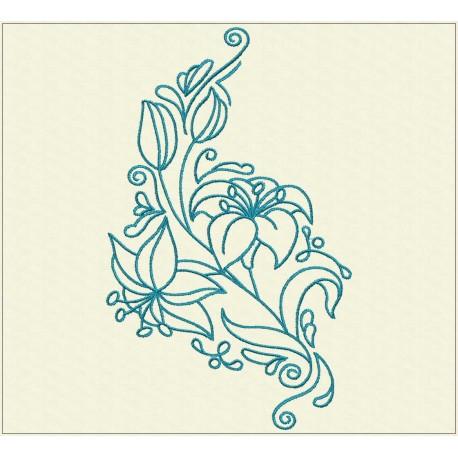 TDZ223 - Decorative Lilies 5x5