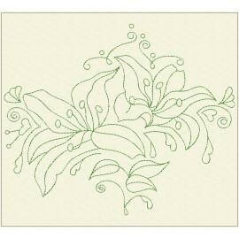 TDZ224 - Decorative Lilies 6x6