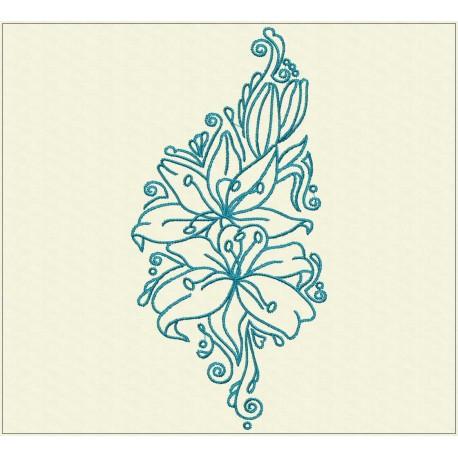 TDZ225 - Decorative Lilies 7x7