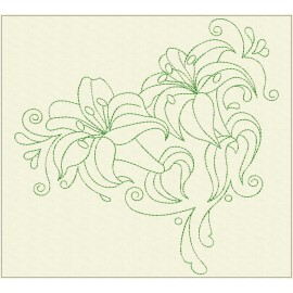 TDZ226 - Decorative Lilies 8x8