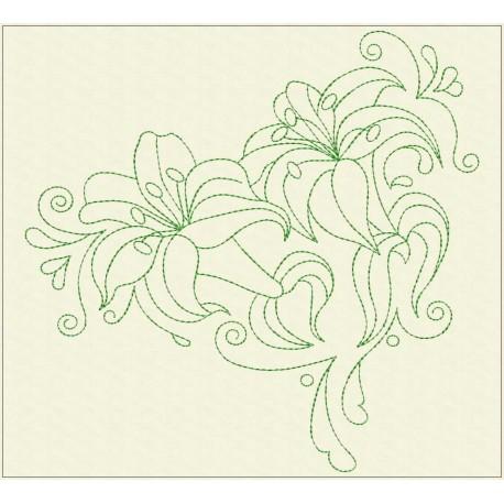 TDZ226 - Decorative Lilies 8x8