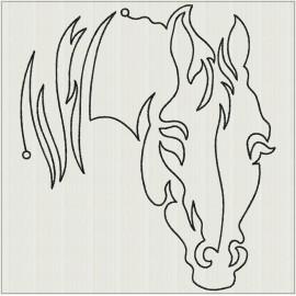 TDZ235 - Lineart Horses 7x7