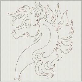 TDZ236 - Lineart Horses 8x8