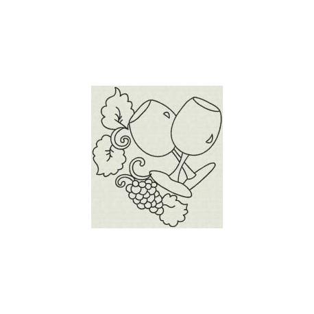 TDZ066 - Fancy Grapes Linework