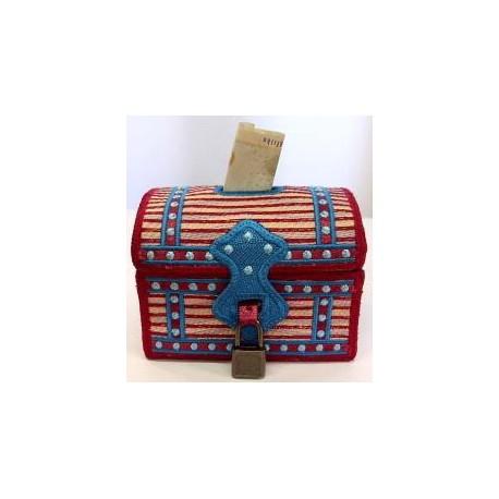 TDZ069 - Ribbon Treasure Chest Piggy Bank