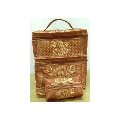 TDZ074 - Double Vanity Case & Makeup Bag Combo