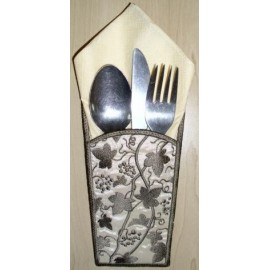 TDZ084 - Vine Silverware Holder