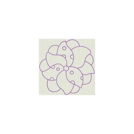 TDZ095 - Spring Flowers Backstitch