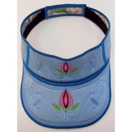 TDZ099 - Small Sun Visor Floral Tattoo 02