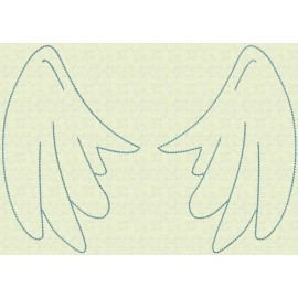 TDZ105 - Angel Wings Backstitch