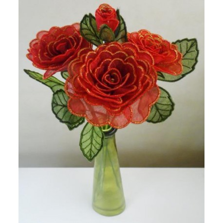 TDZ138 - 3D Valentine's Rose