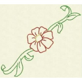 TDZ154 - Flower Borders Backstitch 4x4