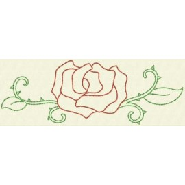 TDZ155 - Flower Borders Backstitch 5x7