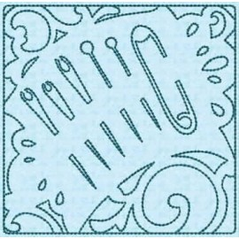 TDZ157 - Sewing Stencils Quilt Blocks Backstitch 4x4