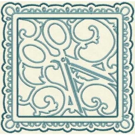 TDZ158 - Sewing Stencils Quilt Blocks Stemstitch 5x5