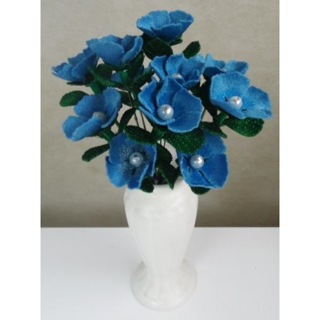 TDZ172 - 3D Turquoise FSL Flower
