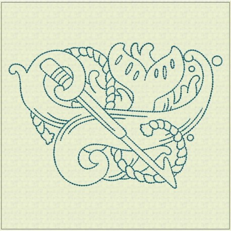 TDZ176 - Nautical Lines 4x4 Backstitch